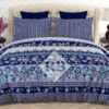Blue Bed Sheet Comforter Set