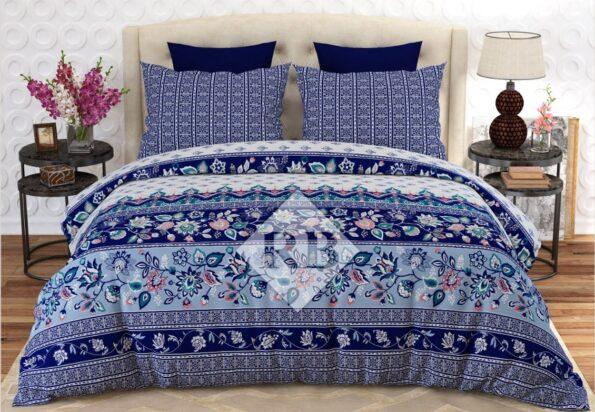 Blue Bed Sheet Comforter Set