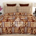 Brown Printed Box Comforter Set