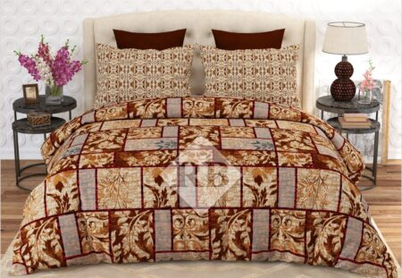 Brown Printed Box Comforter Set