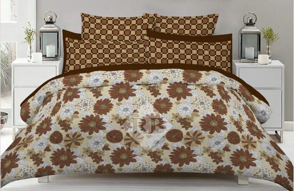 Brown White Comforter Set ( 6 PCS - 8 PCS )