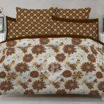 Brown White Comforter Set ( 6 PCS – 8 PCS )