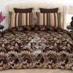 Dark Brown Printed Comforter Set