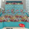 Ferozy Print Bed Sheet With 2 Pillow Covers – 3 PCS