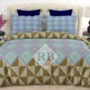 Ferozy Purple Brown Comforter Set