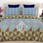 Ferozy Purple Brown Comforter Set