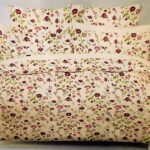 Flowers Print Bed Sheet With 2 Pillow Covers – 3 PCS