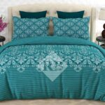 Green Printed Bedding Sets With 2 Pillow Covers – 3 PCS
