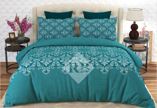 Green Printed Comforter Set