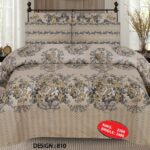 Mud Color Printed Comforter Set