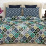 Multicolor Bed Sheet With 2 Pillow Covers – 3 PCS