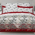 Red White Comforter Set ( 6 PCS – 8 PCS )