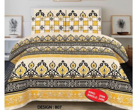 Yellow Black Comforter Set
