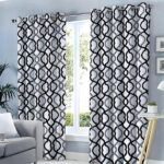 BLACK GREY LINES CURTAINS FOR WINDOW AND DOOR 60 X 90 INCHES EACH ( Set Of 2 Pieces )