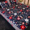 Blue Crystal Bed Cover With 2 Pillow Covers – 3 PCS