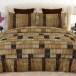 Brown Box Printed Bed Sheets with 2 Pillow Covers