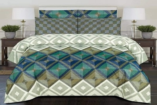 Diamond Print Bed Sheets with 2 Pillow Covers
