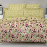 Flowers Print Bed Sheets with 2 Pillow Covers