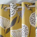 YELLOW CURTAINS FOR WINDOW AND DOOR 60 X 90 INCHES EACH ( Set Of 2 Pieces )