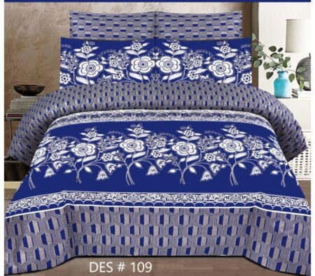 Dark Blue Cover With 2 Pillow Covers