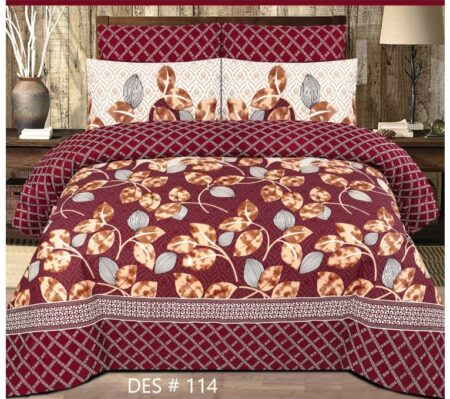 Dark Red Sheet With 2 Pillow Covers