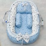 Blue White Design Baby Nest – 5 PCS