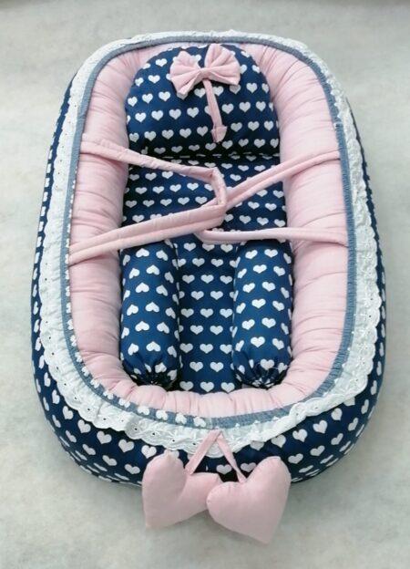 Heart Design Baby Nest - 5 PCS