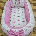 Stars Pink Design Baby Nest – 5 PCS
