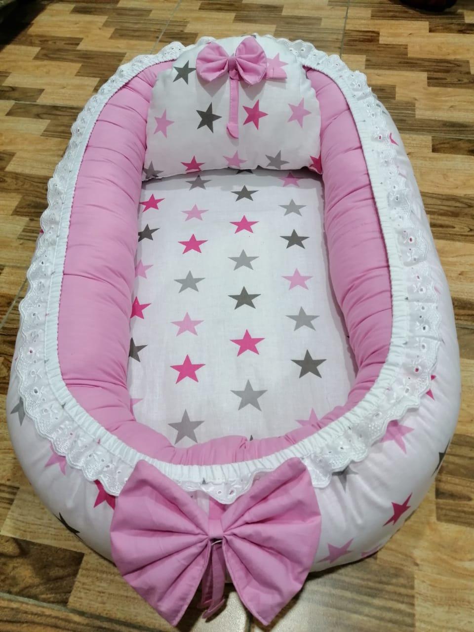 Stars Pink Design Baby Nest - 5 PCS
