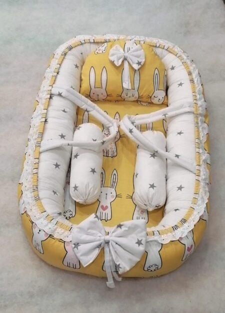 Yellow Rabbit Design Baby Nest - 5 PCS